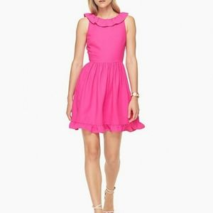Kate Spade Scenic Route Ruffle Back Pink Dress